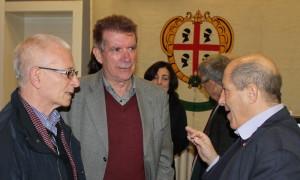 Gatani (a destra) con Luigi Fucentese presidente della Società Cooperativa di Winterthur e Luciano Alban presidente del Comites di Zurigo