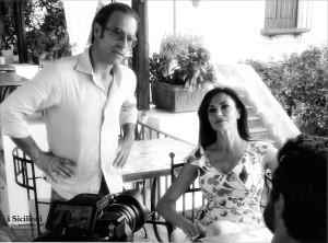 Il regista Francesco Lama insieme a Maria Grazia Cucinotta