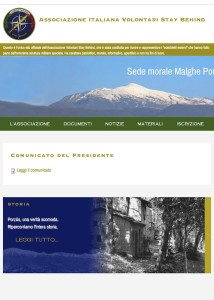 Home page dell'Associazione italiana volontari Stay Behind