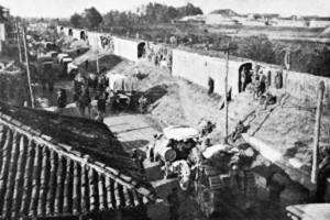 Battaglia di Caporetto del 1917- una linea di sbarramento protegge la ritirata italiana