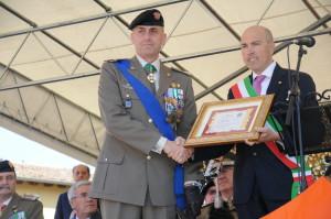 Il Generale Cillo e il sindaco di Pozzuolo del Friuli