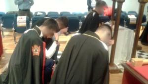 Un rituale durante la cerimonia
