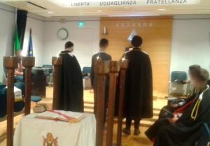 Un momento della cerimonia di installazione al Capitolo Roma n. 1