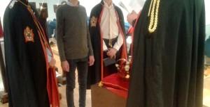 Un momento della cerimonia di installazione al Capitolo Roma n.1