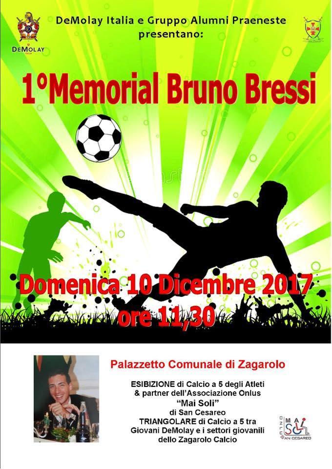 A Zagarolo (Roma) il 1° Memorial Bruno Bressi