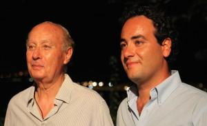Il barone Benedetto Salamone insieme al figlio Placido