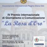 A Milano la cerimonia del Premio di giornalismo La Rosa d'Oro