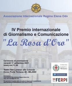 Milano cerimonia Premio di giornalismo La Rosa d'Oro